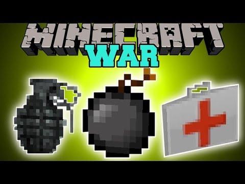 Minecraft: WAR (EXPLOSIVES, INSTANT STRUCTURES, EPIC GUN & MORE!) Mod Showcase