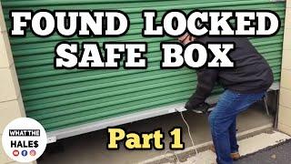 LOCKED SAFE BOX Part 1 I Bought Abandoned Storage Unit Locker / Mystery Boxes Storage Wars Auction