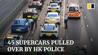 Policja w Hongkongu przechwyciła 45 luksusowych samochodów sportowych w związku z podejrzeniem wyścigów ulicznych.