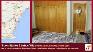 preview picture of video '3 dormitorios 3 baños Villa se Vende en Benijofar Village, Benijofar, Alicante, Spain'