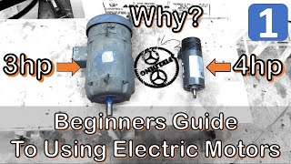 Ultimate Beginners Guide To Using Electric Motors For Makers And DIY Projects; #068