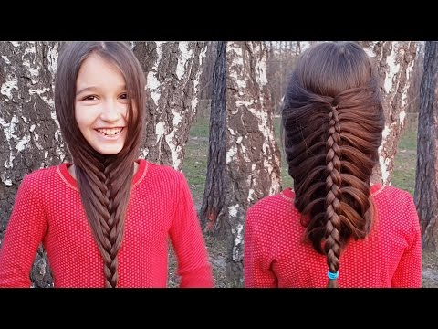 Французская коса самой себе. Коса-борода. // French braid on yourself