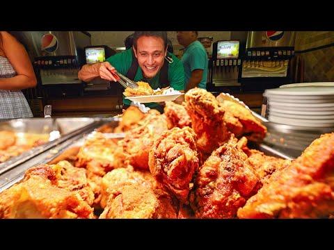Giant AMISH BUFFET!! Fried Chicken + Beef Brisket