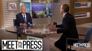 Full Mattis: Americans 'Don't Need Military Generals' Getting Involved In Politics | Meet The Press