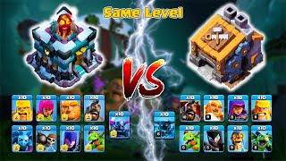 🔥🔥Same Level🔥🔥 New TH-13 Troops vs BH Troops
