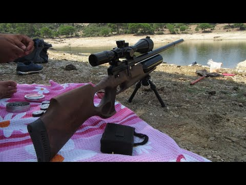 Kral Puncher Jumbo  22 cal 100m shots - SSeviker Outdoors - Video