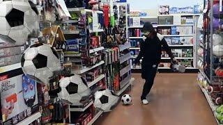 INDOOR FOOTBALL GOES WRONG....