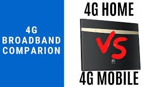 4G Home Broadband vs 4G Mobile Broadband