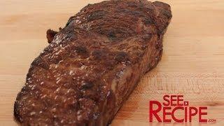 "Cook A ""Steakhouse"" Steak at Home - SeeRecipe.com"