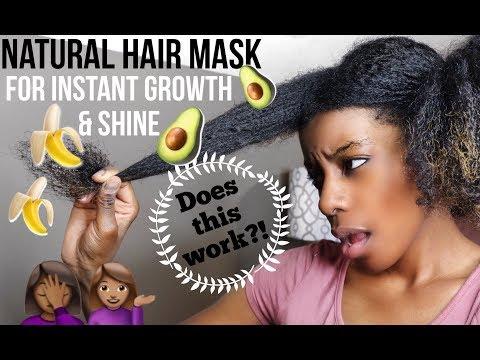 Hair Mask na may castor at almond oil burdock