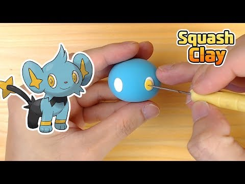 How to make Shinx Electric-type Pokémon in clay