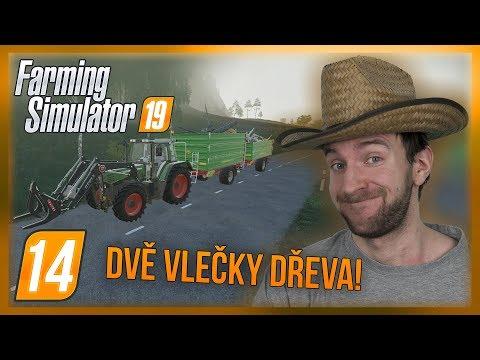 DVĚ VLEČKY DŘEVA! | Farming Simulator 19 #14