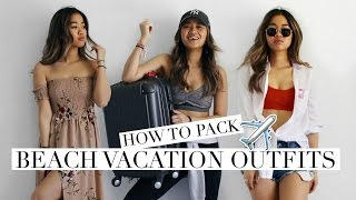 BEACH VACATION LOOKS + 1 WEEK IN A CARRY-ON | Rachspeed
