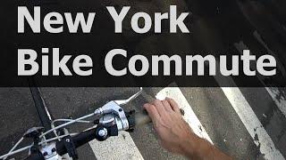 Typical New York City POV Bike Commute