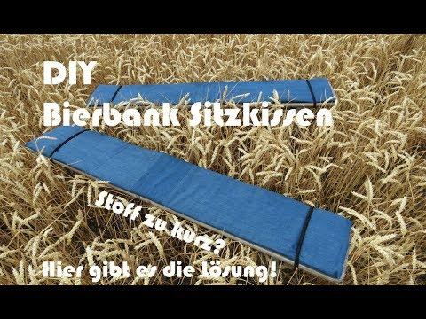 Bierbank Sitzkissen nähen | Anleitung mit kostenlosem Schnitt | Was tun, wenn der Stoff zu kurz ist?