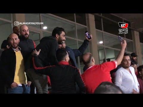 شقيق حسين الشحات يحتفل بهدف الأهلي الثالث على طريقته الخاصة
