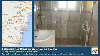 preview picture of video '3 dormitorios 2 baños Vivienda de pueblo se Vende en Country House, Benejuzar, Alicante, Spain'