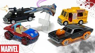 Opening Hot Wheels Marvel-Themed Vehicles!