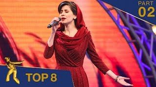 مرحلۀ ۸ بهترین - فصل پانزدهم ستاره افغان / Top 8 - Afghan Star S15 - Part 02