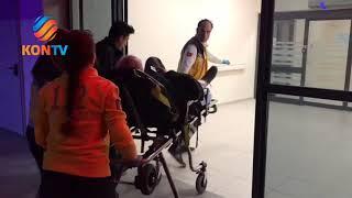 Konya'da yol verme kavgası! Baba ile oğlu yaralandı