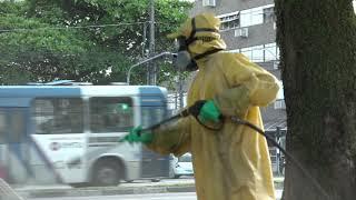 Santos amplia higienização de vias e equipamentos públicos