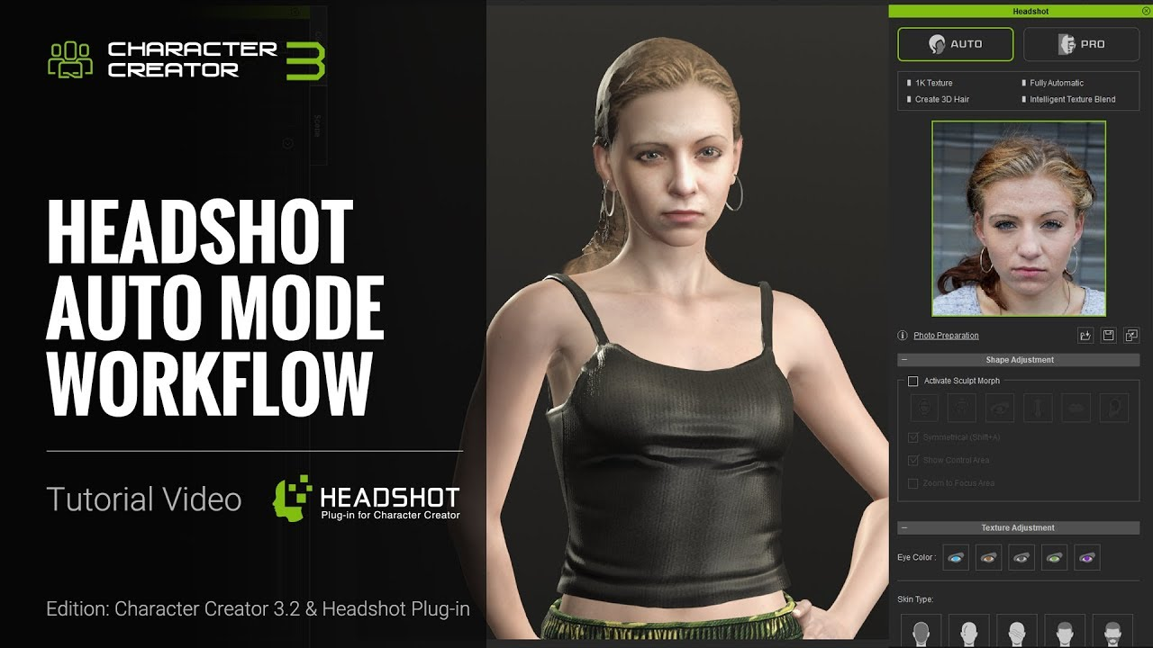 Headshot Plug-in Tutorial - Auto Mode Workflow