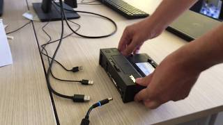 How to docking DELL laptop - DELL E-Port Replicator - down and up connection, how to work