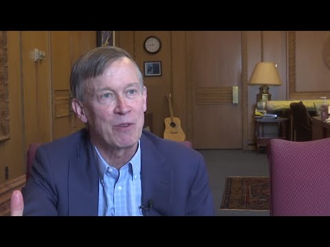 """Former Colorado Gov. John Hickenlooper says he's running for president because he believes he can beat Donald Trump and can """"bring people together on the other side and actually get stuff done."""" (March 4)"""