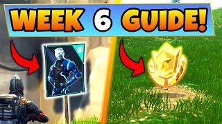 Fortnite WEEK 6 CHALLENGES GUIDE! – POSTER LOCATIONS, Treasure MAP, Omega (Battle Royale Season 4)