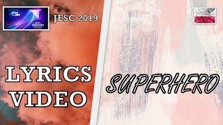 [LYRICS VIDEO] VIKI GABOR   SUPERHERO   JESC 2019 POLAND 🇵🇱