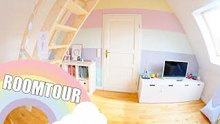 ROOMTOUR 🌈 Kinderzimmer mit Hochebene   Pastellfarben   Isabeau