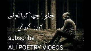 Very Sad Best Urdu Poetry Chalo Acha Kia Tum Ne By Ali
