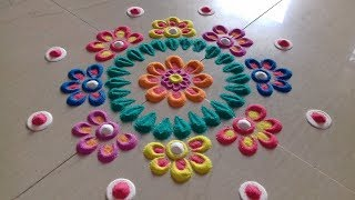 ** Simple and Easy Rangoli Designs** Innovative rangoli designs with colours