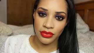 Aaliyah Inspired Jewel Toned Smokey Eye Makeup Tutorial | Collab with @thefancyfaced