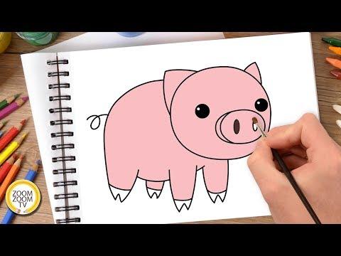 HĐ TẠO HÌNH: Vẽ con lợn
