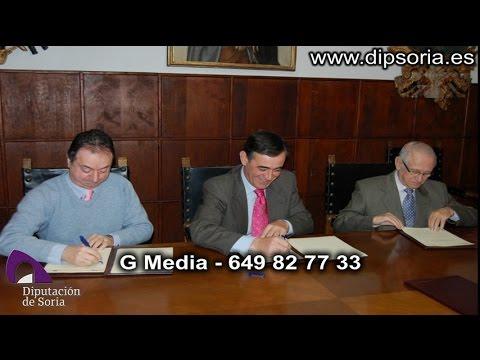 Vídeo de la visita institucional de la Diputación al Burgo de Osma. / Dip.