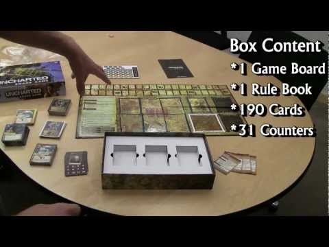 Uncharted: The Board Game - Tutorial - Opening the Box - Bandai