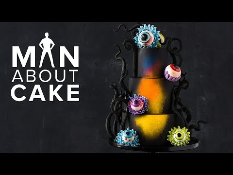 #CakeSlayer Halloween: EYEBALL FLOWER CAKE   Man About Cake with Joshua John Russell
