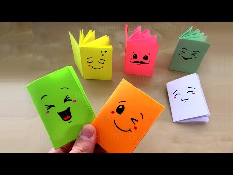 DIY Mini-Notizbuch basteln mit Papier: Heftchen für Schule & Geschenk. Origami Bastelideen falten