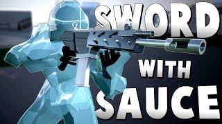 THE FROZEN NINJAS! - New Gadgets Update (Boomerang, Freezer & IDS) - Sword With Sauce Alpha Gameplay