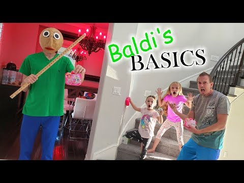 Baldi's Basics in Real Life in Our New House!!! BFF Toys Scavenger Hunt!