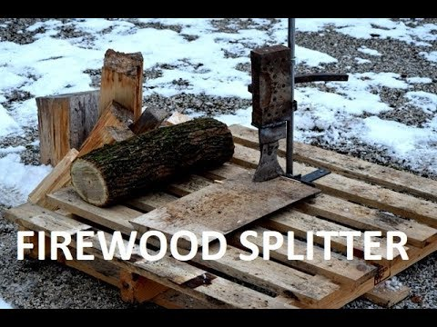 DIY | How To Make A Firewood Splitter (Weighted)