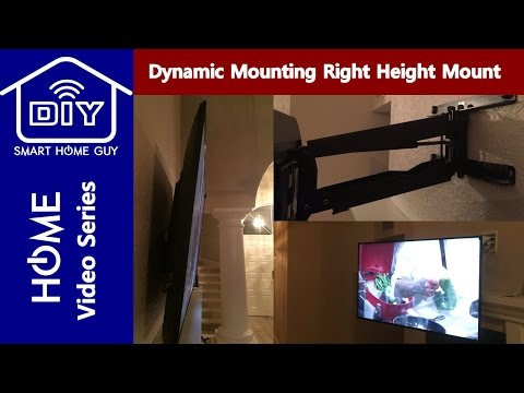 REVIEW Dynamic Mounting Right Height Retractable Fireplace TV Mount w/ tilt and swivel