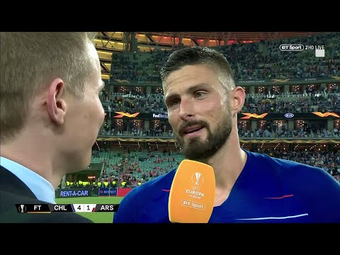 """Arsenal Changed My Life!"" Olivier Giroud Reacts To Winning The Europa League Final"