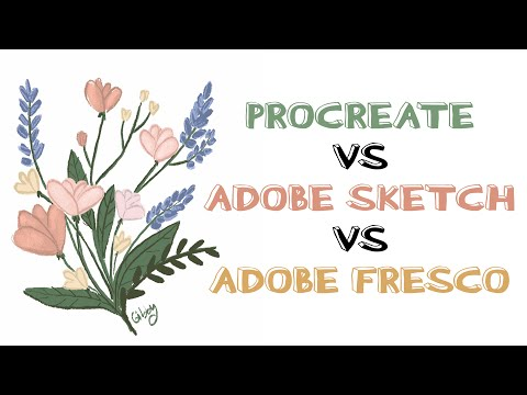 Procreate VS Adobe Sketch VS Adobe Fresco -Review