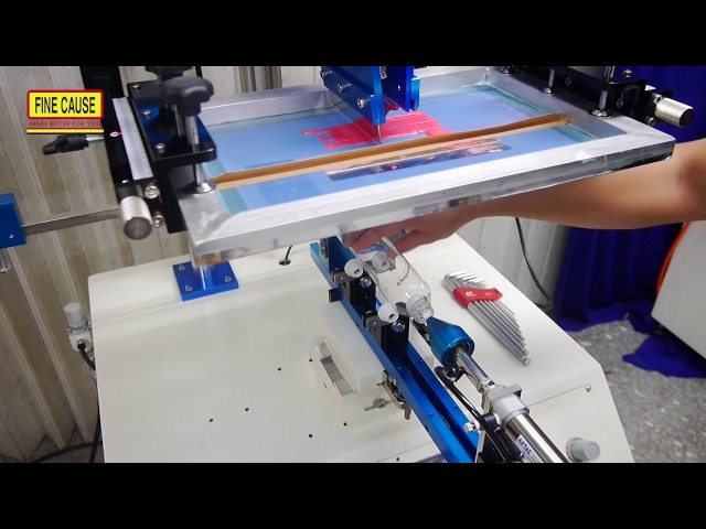 FA-400RSN 伺服馬達曲面網版印刷機 對位印刷動作影片