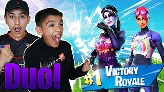 The Greatest Duo! Fortnite NEW Dark Bomber And Brite Bomber Duo With Little Brother!