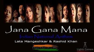 JANA GANA MANA , Indian National Anthem  , Lata Mangeshkar & Rashid Khan ,  ' LIGHTS CAMERA '
