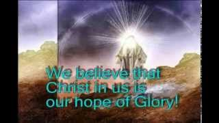 Christ In Us Our Hope of Glory