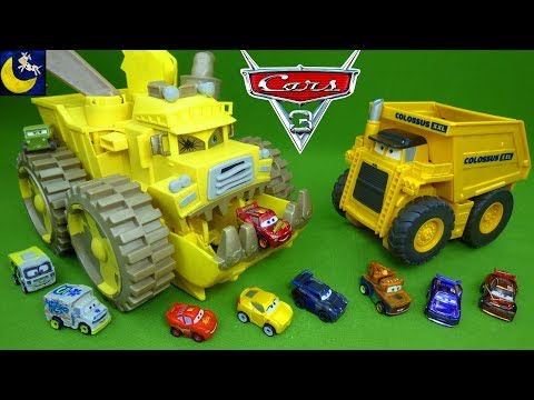 Disney Cars 3 Toys Spring Mini Racers Diecast Set Screaming Banshee Colossus XXL Truck Playset Toy!